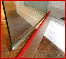 pivot shower framed door bottom seal